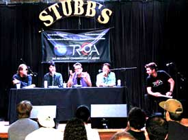 TRCoA's UAC Panel at Stubb's