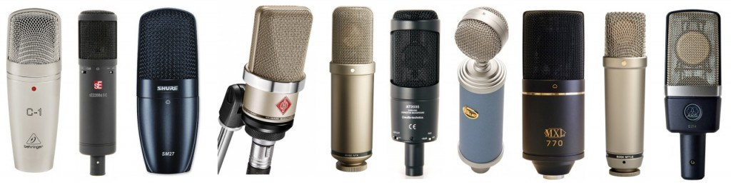 Large Diaphragm Condensers are Great All-Around Mics